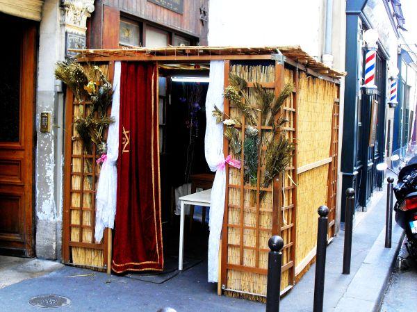 Sukkah at Synagogue Beith Yossef, Paris.