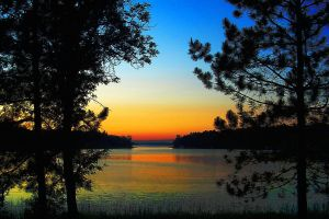 Bass Lake at Sunset. © Charles E. McCracken