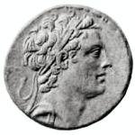 Antiochus Epiphanes coin.