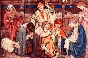 The Shepherds Worship Baby Jesus.