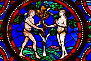 The Temptation of Adam and Eve.