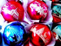 Vintage Shiny Brite Ornaments.