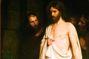 Detail_Doubting Thomas. By Carl Bloch.