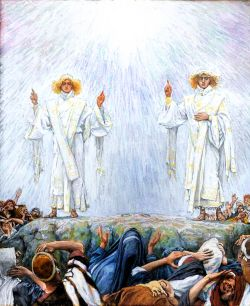 The Angelic Revelation Following the Ascension. By James Tissot.
