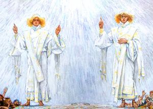 Detail: The Angelic Revelation Following the Ascension. By James Tissot.