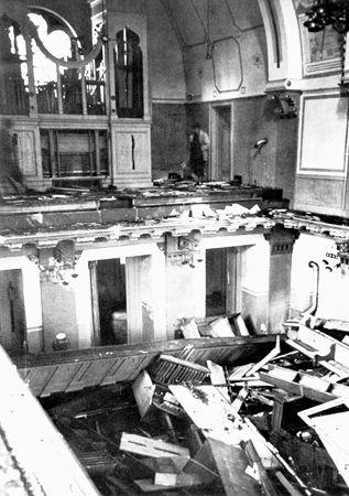 10_Interior of the Zerrennerstrasse synagogue in Pforzheim after its destruction on Kristallnacht, November 10, 1938