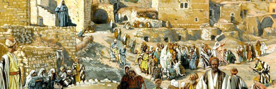 Il allait par les villages en route pour Jérusalem _banner