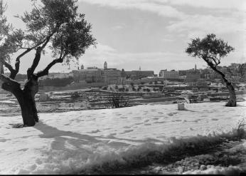 Snowy Bethlehem with Church of the Nativity in view. (1941)_Matson Collection