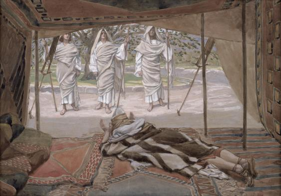 3_Abraham and the Three Angels_Tissot